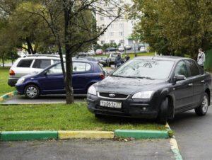 Парковка на газоне как обжаловать москва