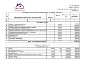 Коммерческое предложение образец на выполнение строительных работ