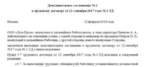 Дополнительное соглашение на изменение оклада образец
