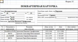 Справка форма 10 из паспортного стола
