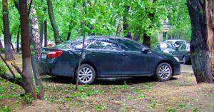 Обжаловать штраф за парковку на газоне