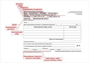Обязательные реквизиты бланка строгой отчетности 2019
