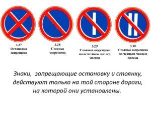 Правила дорожного движения остановка и стоянка запрещена