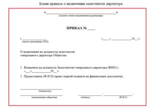 Приказ о назначении директора срок действия