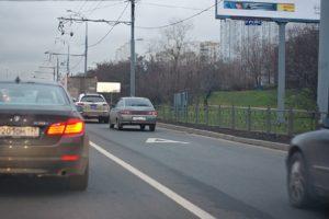 Штраф за движение по автобусной полосе