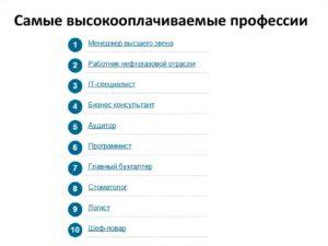 Самая высокооплачиваемая работа в россии для женщин