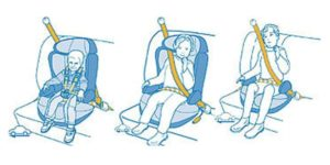 Как установить детское кресло на переднее сидение