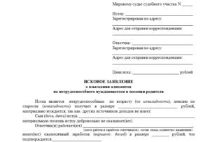 Исковое заявление о взыскании алиментов и разделе имущества