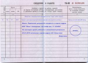Правила заверения копии трудовой книжки образец