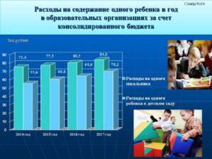 Затраты государства на содержание одного ребенка в детском саду