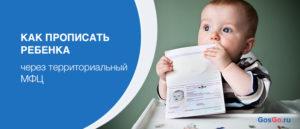 Регистрация ребенка в мфц после рождения