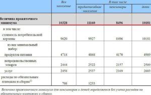 Величина прожиточного минимума в москве в 2019 для признания малообеспеченной семьи если учится на платном обучении