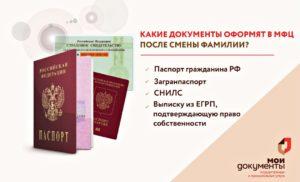 Мфц замена паспорта после замужества спб