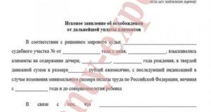Решение суда об освобождении от уплаты алиментов на содержание ребенка