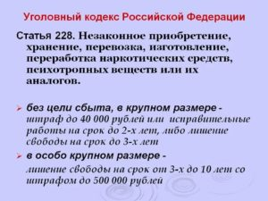 228 ч 3 наказание 2019