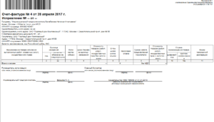 Код транспортных услуг в счет фактуре