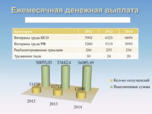 Ежемесячные выплаты ветеранам труда в 2019 году в московской области