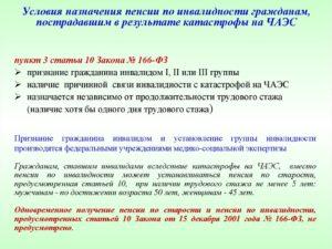 Страховая пенсия для чернобыльцев