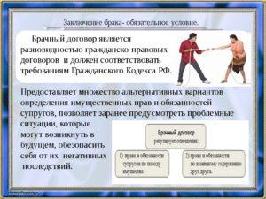 Место брачного договора в системе гражданско-правовых договоров