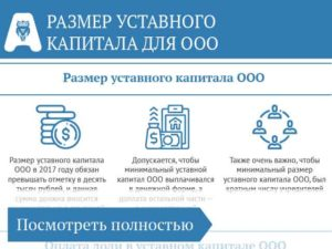Уставной капитал ооо с 2019 года
