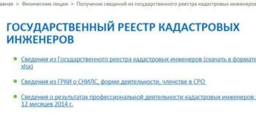 Росреестр список кадастровых инженеров московской области