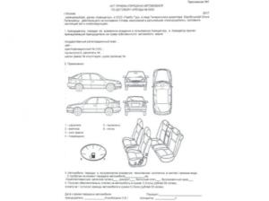 Образец акта приема передачи автомобиля в аренду