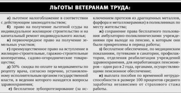 Что положено ветерану труда на пенсии в москве