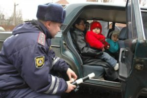 Ребенок в кресле не пристегнут штраф